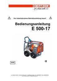 Bedienungsanleitung E 500-17 - von Oertzen GmbH