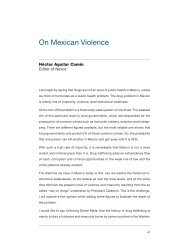 On Mexican Violence - Yale Center for the Study of Globalization