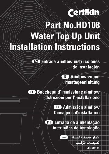 Installation Manual - Certikin