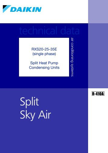 Daikin DX Split System Technical Data9923150000.pdf 18/03/2010 ...