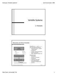 pdf - Systemsoftware und Verteilte Systeme - Universität Trier