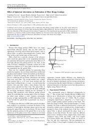 Effect of Spherical Aberration on Fabrication of Fiber Bragg Gratings
