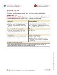 Plan de leçon no 5: Terminer la journée de travail : Liste de contrôle ...