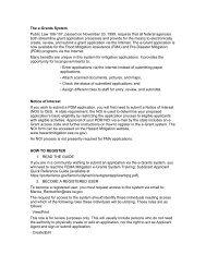 The e-Grants System - Hazard Mitigation Web Portal