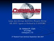 Large Area Storage Tank Fires Require Strong AR-AFFF Agents as ...