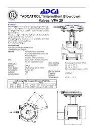 """ADCATROL"" Intermittent Blowdown Valves VPA 25"