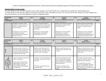 expository essay rubric 7th grade Writing an expository essay i'm circulating with the expository rubric and focusing on the standard that calls for vivid details 9th grade ela » fences.