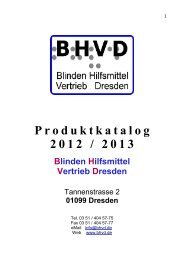 Produktkatalog 2012 / 2013 - beim BHVD!