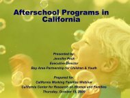 After-School Programs - California Center for Research on Women ...