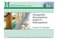 Schlaganfall – Neurologischer Notfall im ... - HELIOS Kliniken GmbH