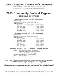 2013 Community Festival Pageant - North Royalton Chamber of ...