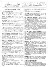 journal du 23 mars - Idées Halles