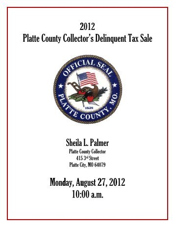 Delinquent Tax Sale - Platte County