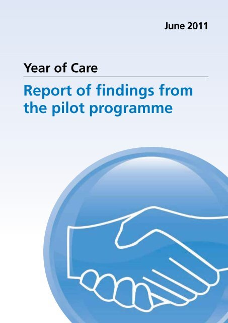 report of findings from the pilot programme nhs diabetes
