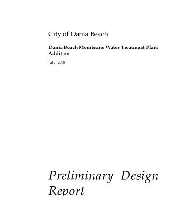 Dania Beach Membrane Water Treatment Plant Addition