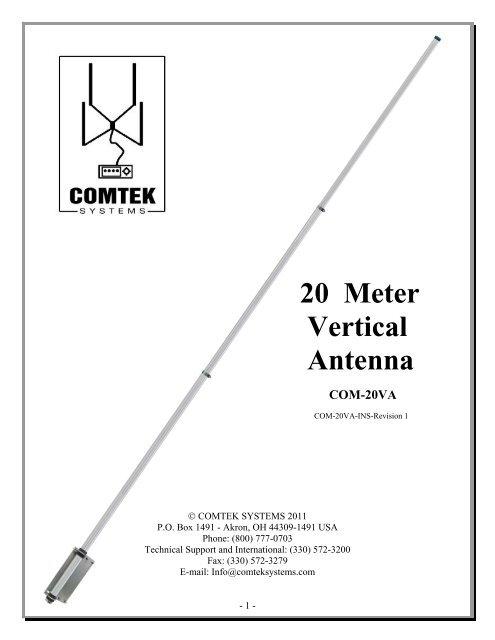 20 Meter Vertical Antenna - DX Engineering