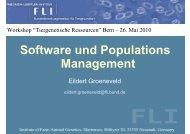 Software und Populationsmanagement - Eildert Groeneveld - SVT