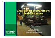 Characterization of Evotherm Warm Mix Binder - Petersen Asphalt ...