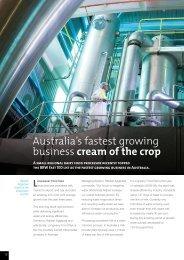 Australia's fastest growing business cream of the crop - Longwarry ...