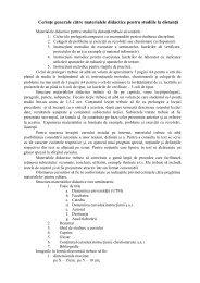 Cerinţe generale către materialele didactice pentru studiile la distanţă.