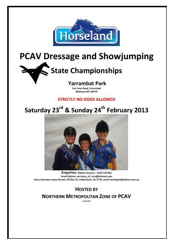 Event Information Booklet & Entry Forms - Pony Club Association of ...