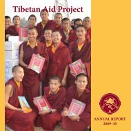 Message from the Executive Director - Tibetan Aid Project
