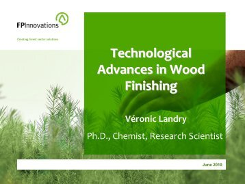 Technological Advances in Wood Finishing - Northern Forest Center