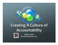 Creating a Culture of Accountability - Northern Forest Center