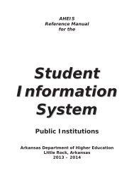 Public - Arkansas Department of Higher Education