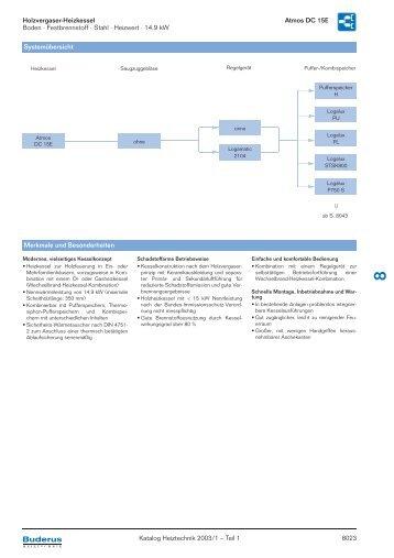 Holzvergaser-Heizkessel Atmos DC 15E Boden · Festbrennstoff ...