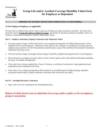 Aflac Claim Form. Group Life And/Or Accident Coverage Disability ...