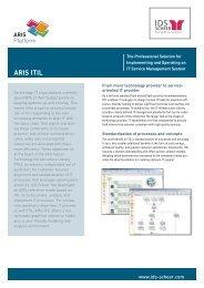 ARIS ITIL Factsheet - IDS Scheer AG