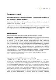 Conference report - Ovesco Endoscopy AG