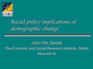 Social policy implications of demographic change - ISPA