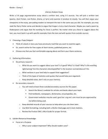 "lucy calkins literary essays angela wisemanwiki klocke ae"" comp 2 literary analysis essay write a 5 6 page"