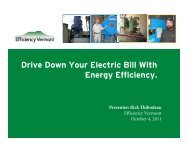Driving Down Electricity Bill with Energy Efficiency - Northern Forest ...