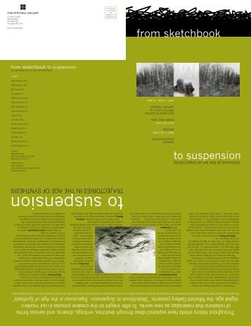Sketchbook to Suspension - Helen Frederick