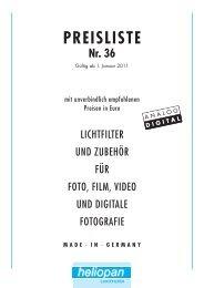 MADE · IN · GERMANY PREISLISTE Nr. 36 - Heliopan