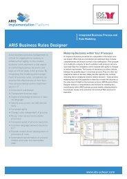 ARIS Business Rules Designer Factsheet