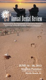 Annual Dental Review - UNC School of Dentistry - University of ...