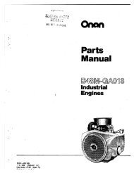 Onan Parts Manual B48M-GA018 Industrial Engines Spec A-C (Nov ...