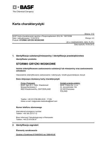 Storm® Gryzki Woskowe - BASF Pest Control Solutions Polska