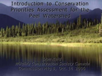 Conservation Assessment Priorities - Peel Watershed Planning ...