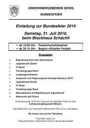 Flugblatt Bundesfeier 2010 - Bowil