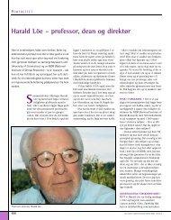 Harald Löe - Den norske tannlegeforenings Tidende
