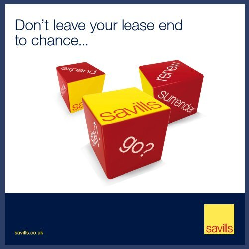 Don't leave your lease end to chance... - Savills