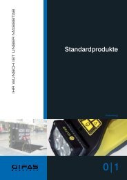 Standardprodukt-Katalog - GIFAS W.J. Gröninger ELECTRIC GmbH