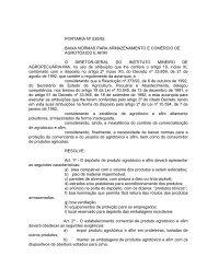 portaria nº 030/92 - Intranet - IMA Instituto Mineiro de Agropecuária