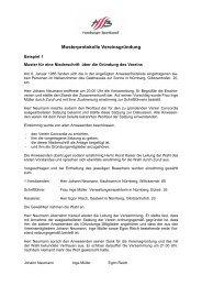 Musterprotokolle Vereinsgründung - Hamburger Sportbund e.V.