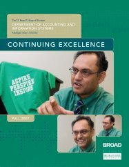Fall 2007 Newsletter (PDF) - Department of Accounting ...